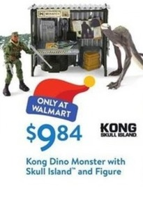 Kong Dino Monster With Skull Island And Figure