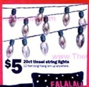 20 ct. Tinsel String Lights