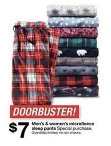 Men's & Women's Microfleece Sleep Pants