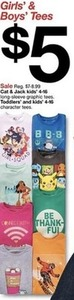 Cat & Jack Toddlers' and Kids' Character Tees