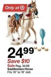 "Saddlestars Horse  - Fits 16"" To 18"" Doll"
