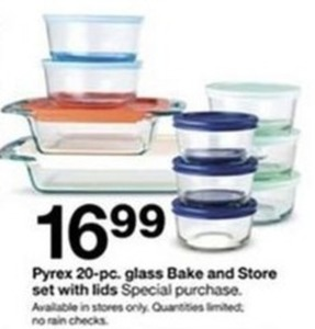 Pyrex 20 Pc. Glass Bake And Store Set With Lids