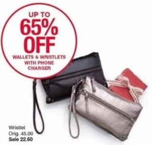 Wallets & Wristlets with Phone Chargers
