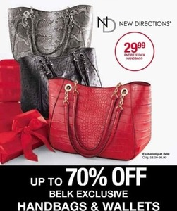 New Directions Handbags and Wallets