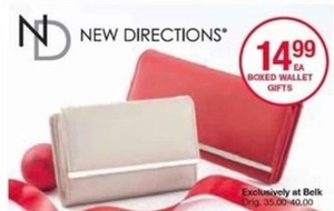 New Directions Boxed Wallet Gifts