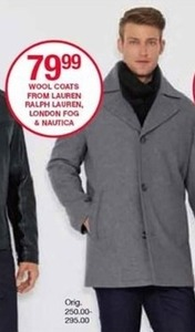 Wool Coats from Lauren Ralph Lauren, London Fog and Nautica