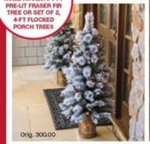 Home Accents 4Ft Flocked Porch Trees