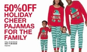 Holiday Cheer Pajamas For The Family