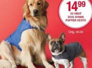 32 Heat Dog Down Puffer Vests