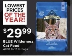 Blue Wilderness Cat Food (All 10 To 12 Lb. Bags)