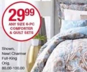 6pc Comforter & Quilt Sets