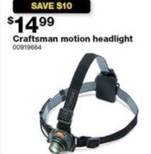 Craftsman Motion Headlight