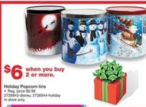 Holiday Popcorn Tins (Must Buy 2+)