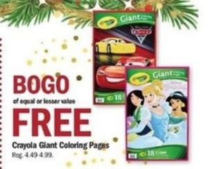 Crayola Giant Coloring Pages - B1G1 Free at Meijer Black Friday on ...