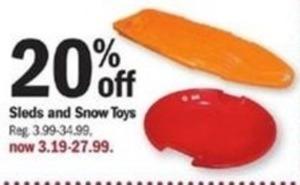 Sleds & Snow Toys