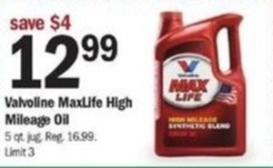 Valvoline MaxLife High Mileage Oil