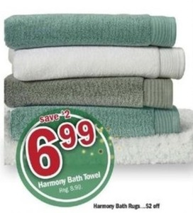 6 Harmony Bath Towels
