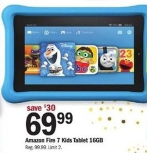 Amazon Fire 7 16GB Kids Tablet