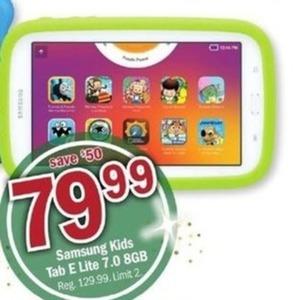 Samsung Kids 8GB Tab E Lit 7.0