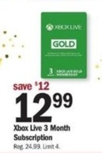 Xbox Live 3 Month Subscription