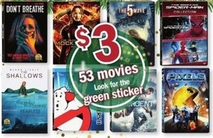 Movie Titles w/ Green Stickers