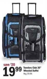 "Travelers Club 30"" Wheeled Duffel"