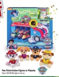 Paw Patrol Action Figures Or Playsets