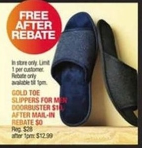 Gold Toe Slippers for Men After Rebate