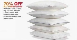 All Down Pillows