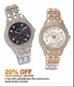 Bulova Crystal Accent Watch