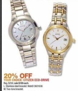 Select Citizen Women's Eco Drive Watches