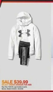 Women's Under Armour Logo Hoodies Or Pants