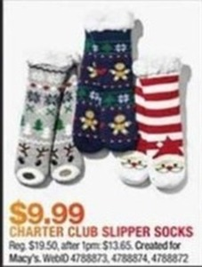 Charter Club Slipper Socks