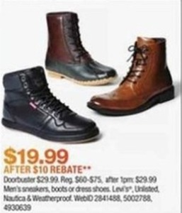 Men's Boots After Rebate