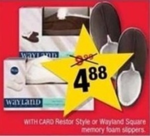 Restor Style or Wayland Square Memory Foam Slippers w/ Card