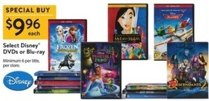 Select Disney DVDs or Blu-rays