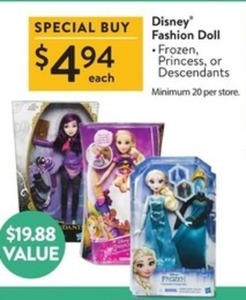 Disney Fashion Dolls - Frozen, Princess or Descendants