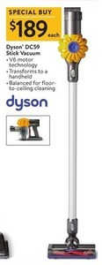 Dyson DC59 Stick Vacuum with V6 Motor Technology and Transforms to Handheld
