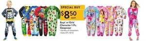 Boys' or Girl's Character 1-Pc. Sleepwear