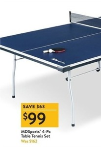 MD Sports 4-PC Table Tennis Set