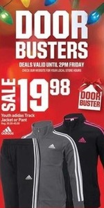 Youth Adidas Track Jacket or Pant