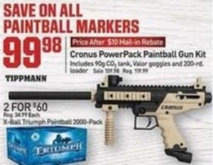 Cronus PowerPack Paintball Gun Kit After Rebate