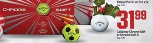 Calloway Chrome Soft or Chrome Soft X Golf Balls