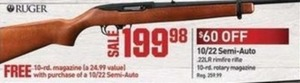 10/22 Semi-Auto .22LR Rimfire Rifle with 10-rd. Rotary Magazine