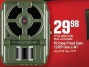 Primos Proof Cam 12MP Gen 2-01 After Rebate