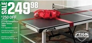 ST3100 Competition Table Tennis Table