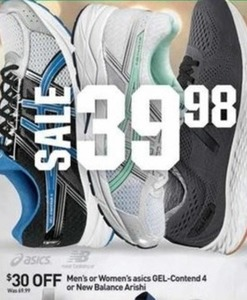 Men's or Women's Asics GEL-Contend 4 or New Balance Arishi