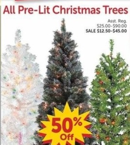 All Pre-Lit Christmas Trees