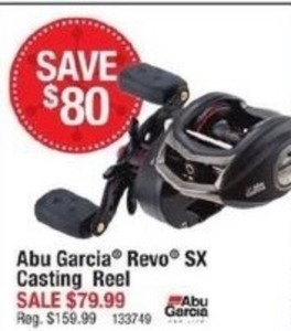 Abu Garcia Revo SX Casting Reel