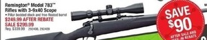 Remington Model 783 Rifles - After Rebate